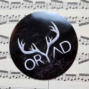 black circle oryad sticker