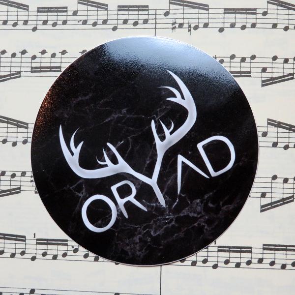 black circle oryad sticker