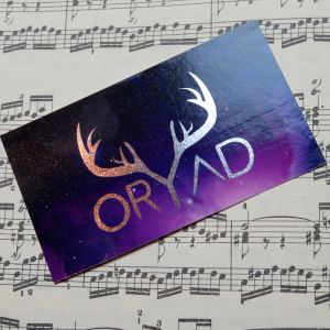 purple metallic oryad sticker