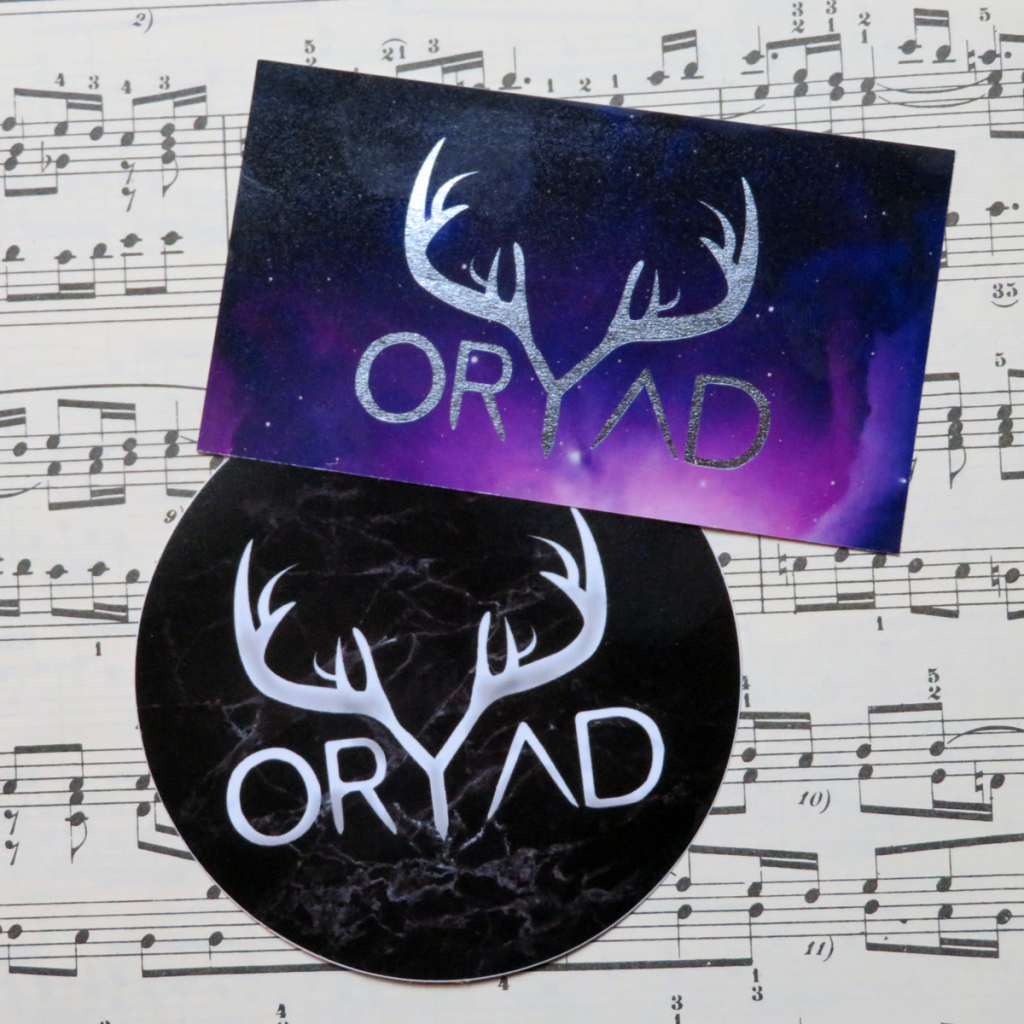 oryad stickers black and purple
